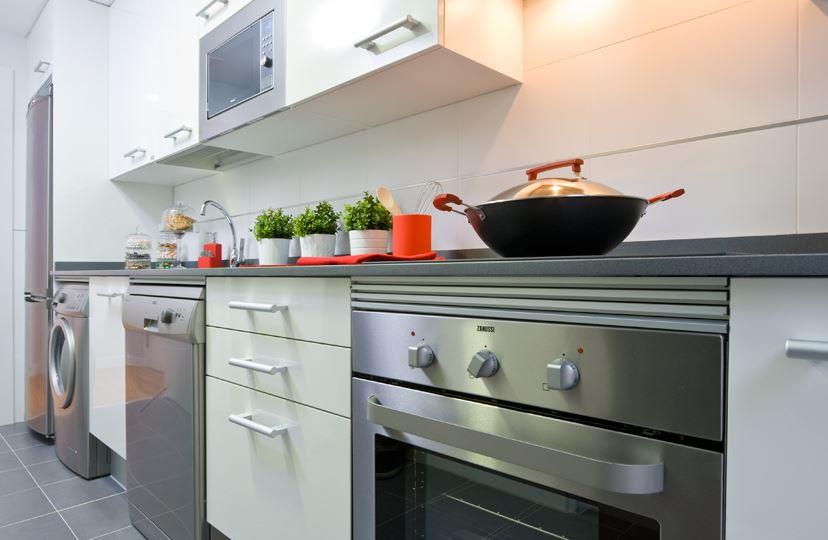 Cocinas funcionales - Cocinas con electrodomesticos blancos ...