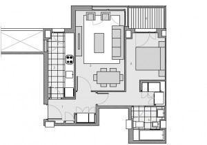 Residencial Célere Tres Cantos Plano 1 dormitorio