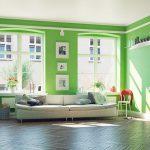 Imagino historias: muebles, paredes y techos de colores