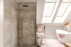 baños microcemento via celere