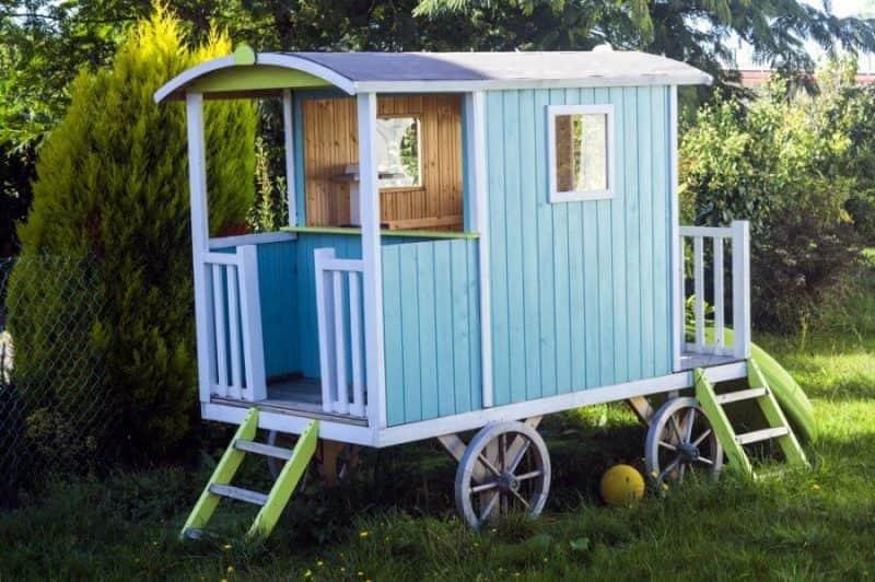 casitas de madera para niños vía célere
