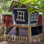 ¡Qué guays son las casitas de madera para niños!