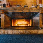 Salones con chimenea moderna