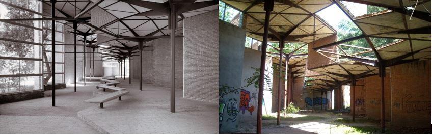 restauración de edificio palacio de hexagonos