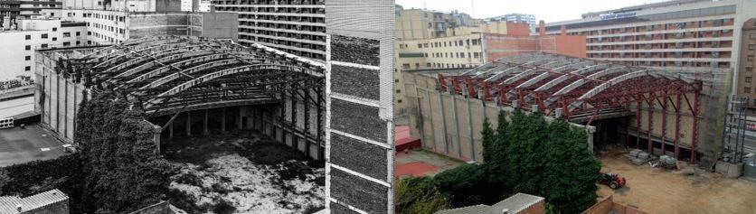 restauración de edificio teatro fleta