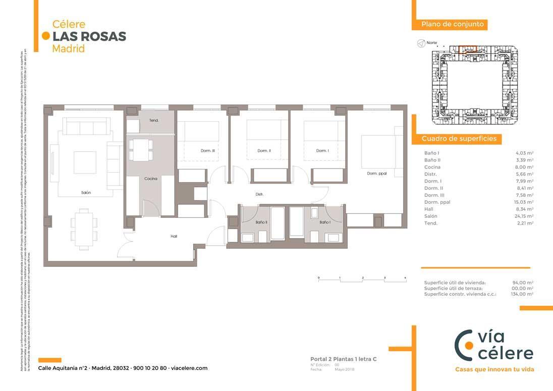 obra-nueva-las-rosas-plano-4-dormitorios
