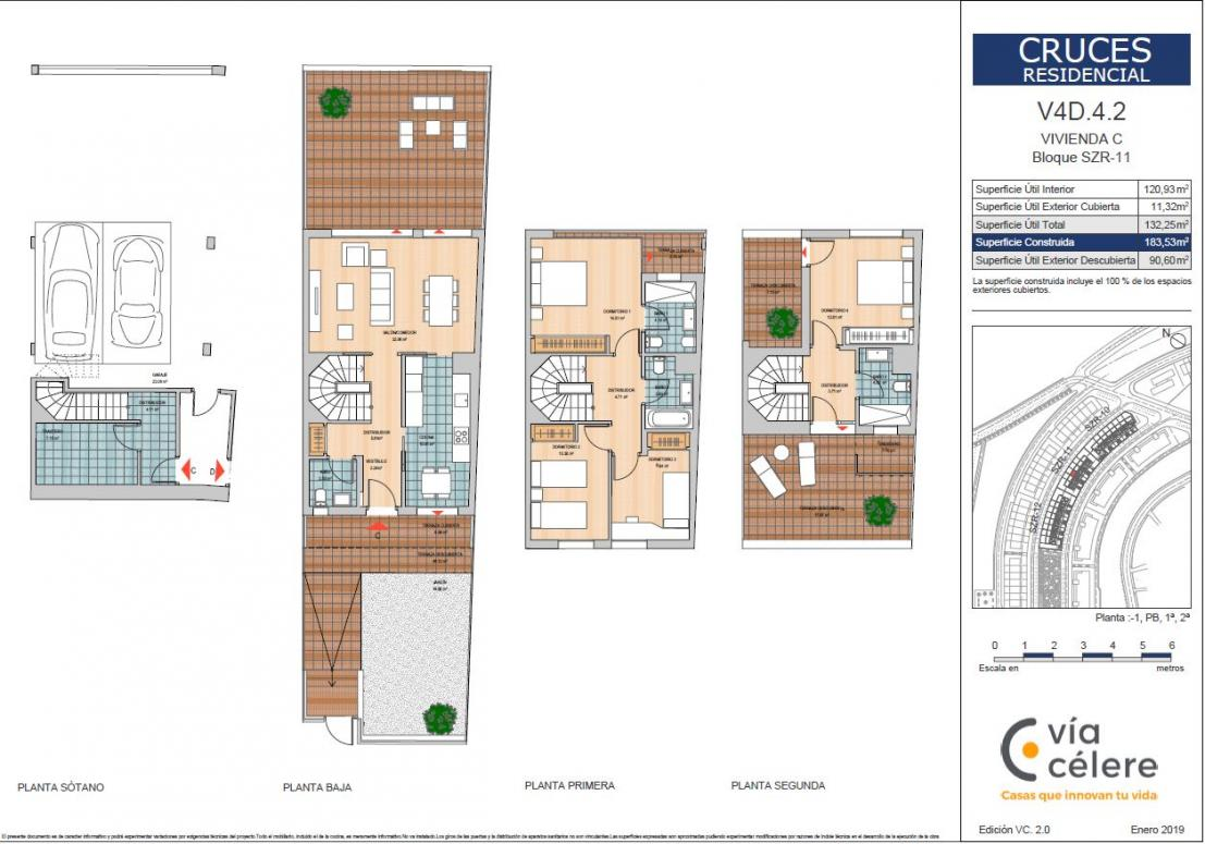 celere cruce chalets 4 dormitorios