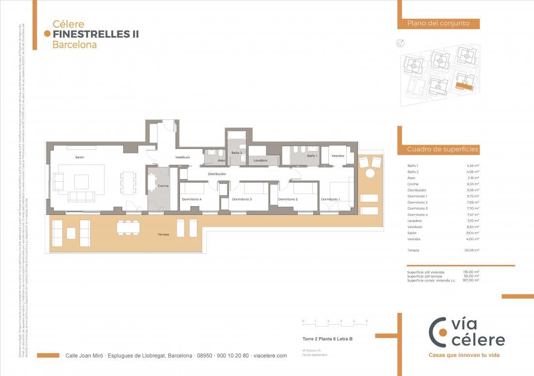 obra nueva celere finestrelles 4 dormitorios