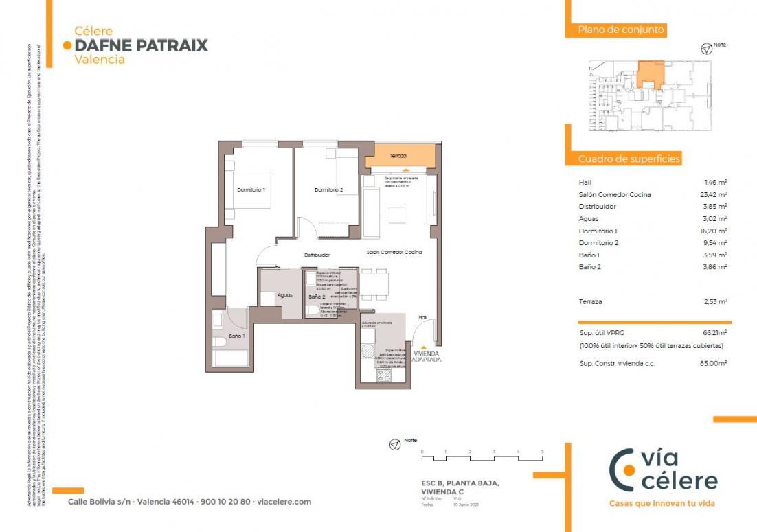 obra nueva celere dafne patraix 2 dormitorios adaptada