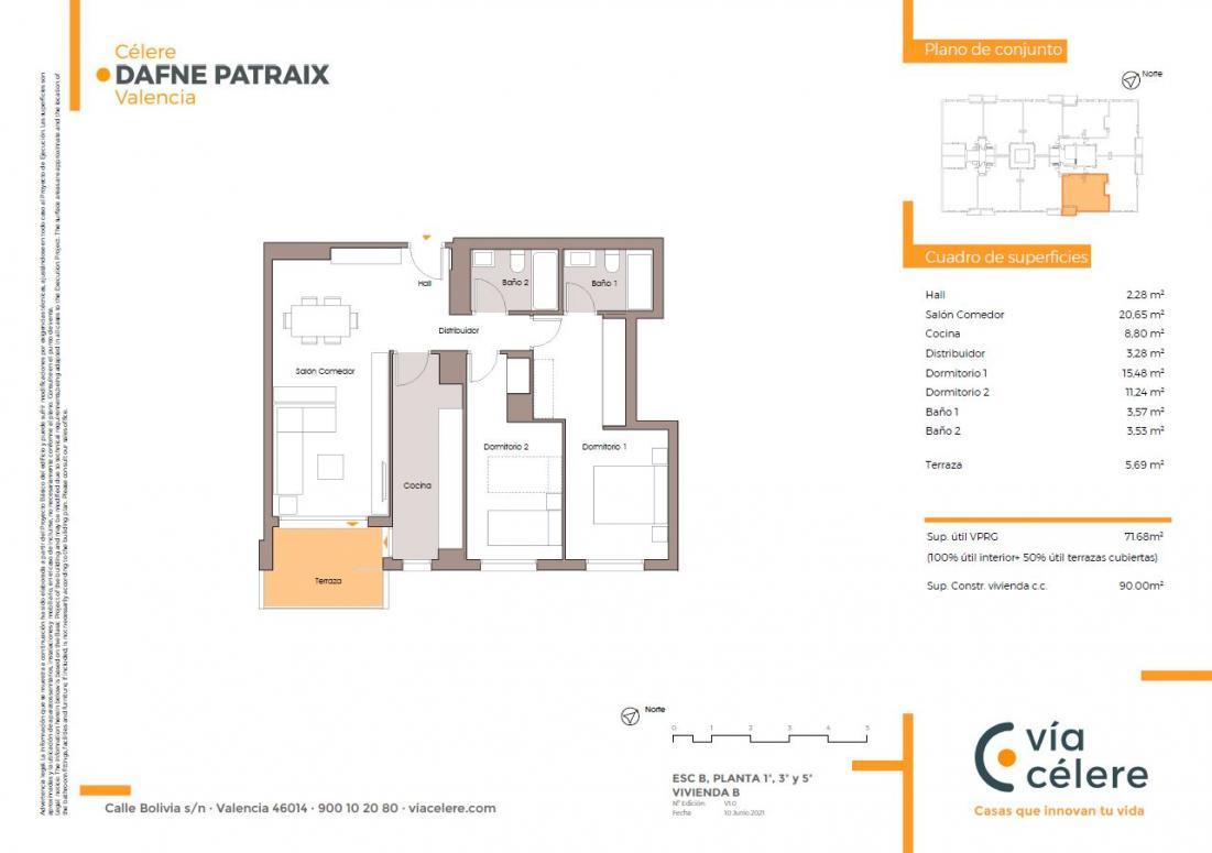 obra nueva celere dafne patraix 2 dormitorios