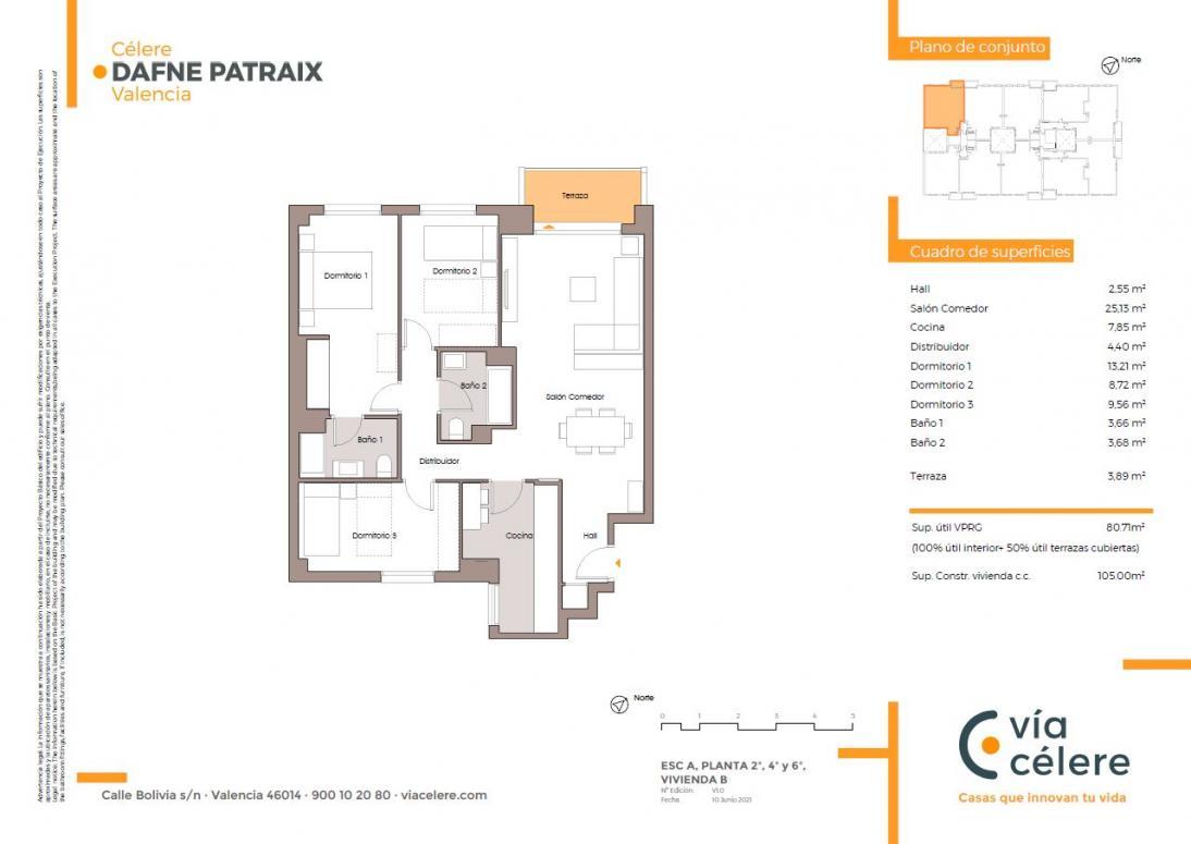 obra nueva celere dafne patraix 3 dormitorios