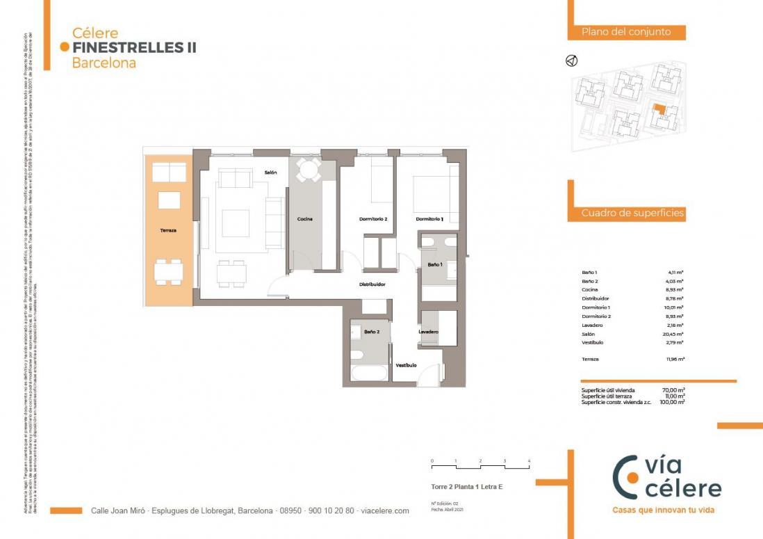 obra nueva célere Finestrelles II 2d