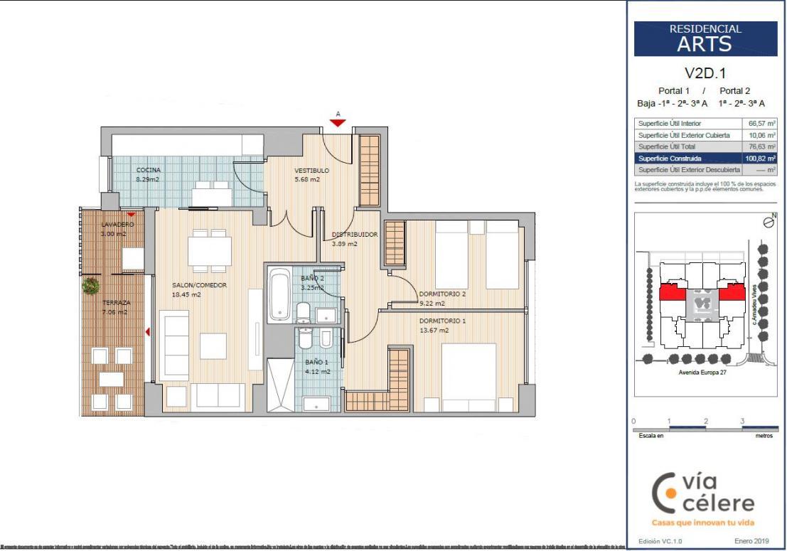 obra nueva celere arts 2 dormitorios