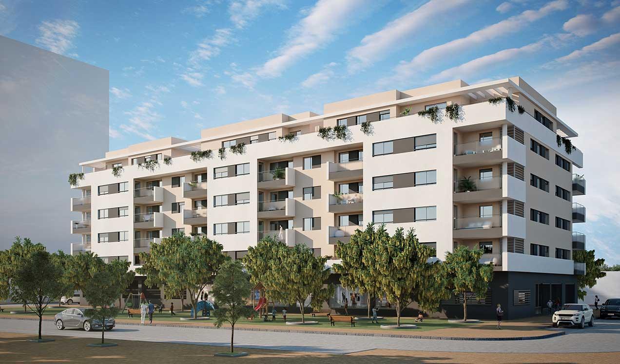 Malaga new build development Alegría Garden New Build