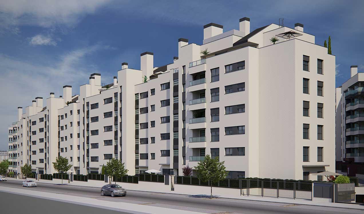Promoción de obra nueva Rivas Vaciamadrid | Célere Cubic III fachada