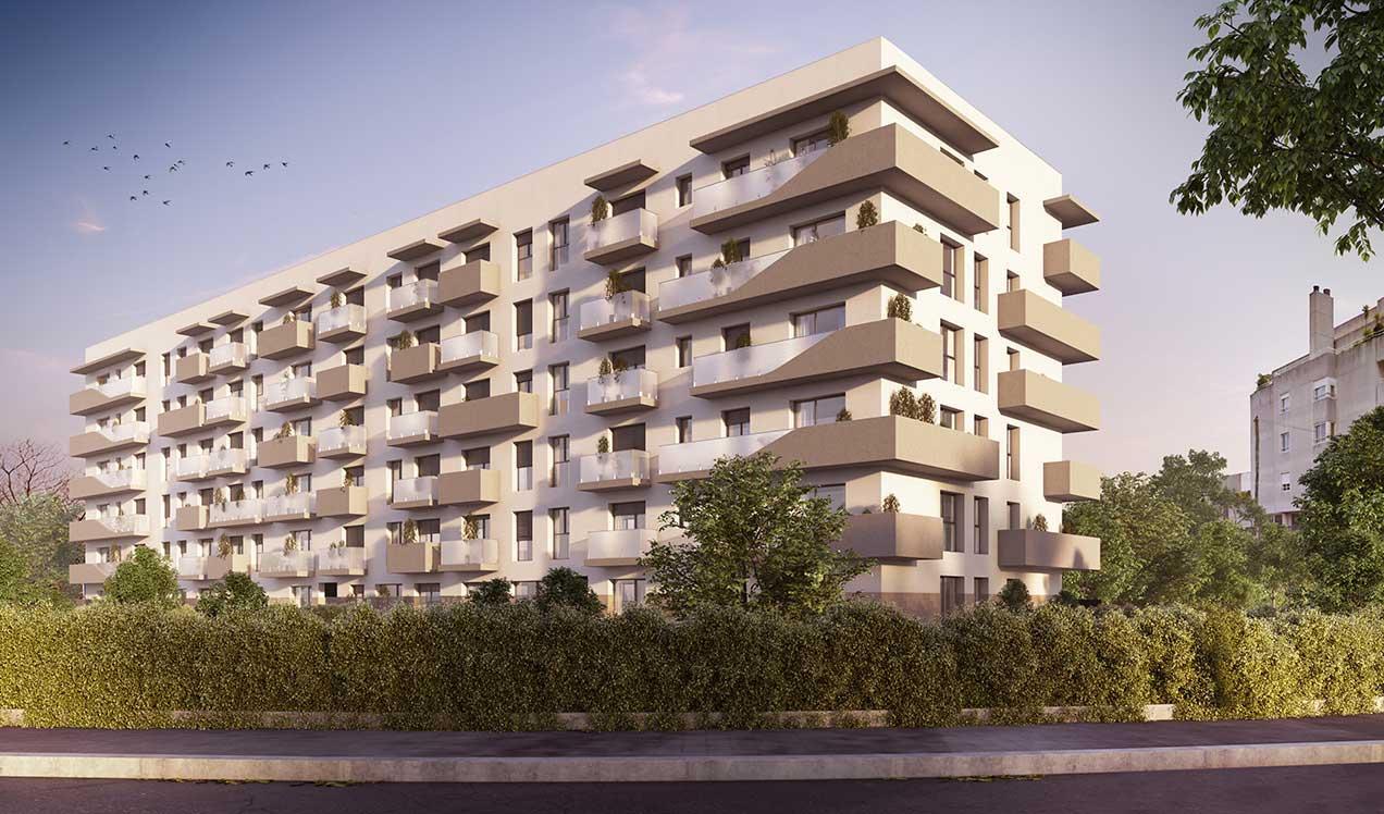 New promotion in Oporto | Célere Portodouro facade
