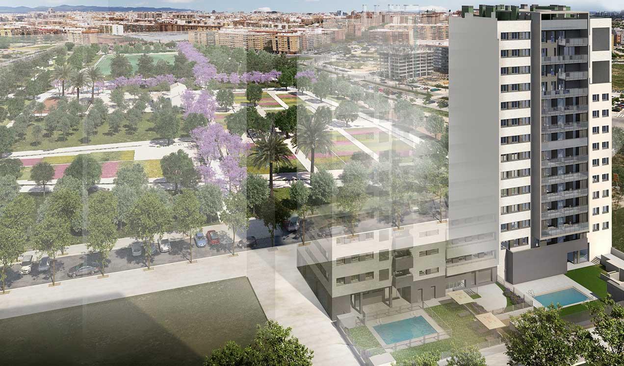 Obra Nueva en Valencia celere-aura-malilla