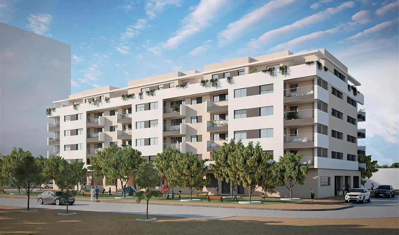 Malaga new build development Alegría Garden New Build