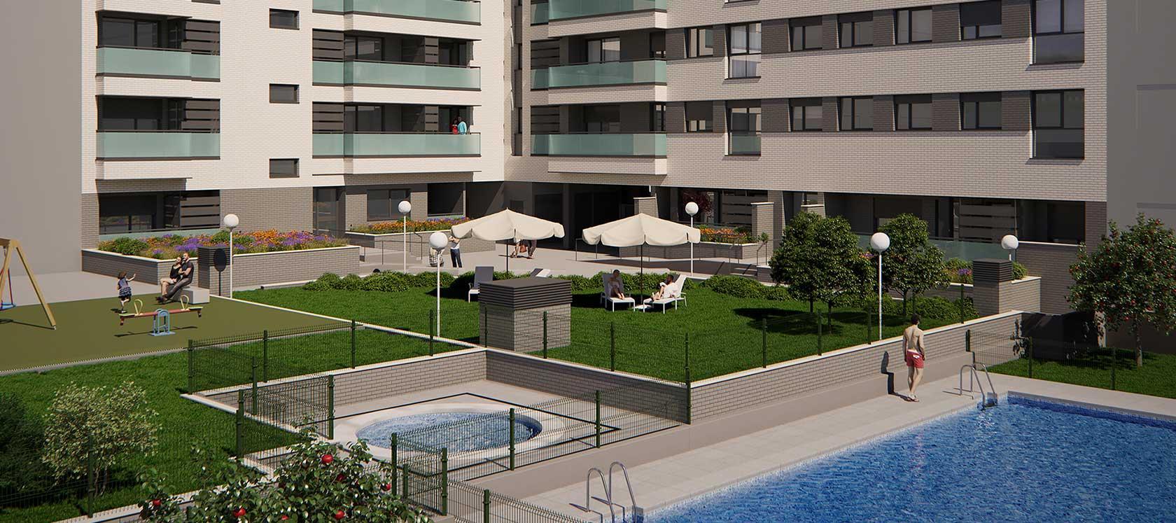 New build in Torrejón de Ardoz Célere River