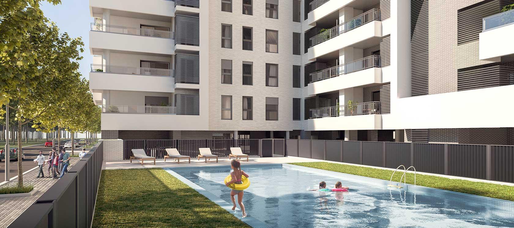 Obra nueva Alicante - Aldara | Célere Aldara piscina