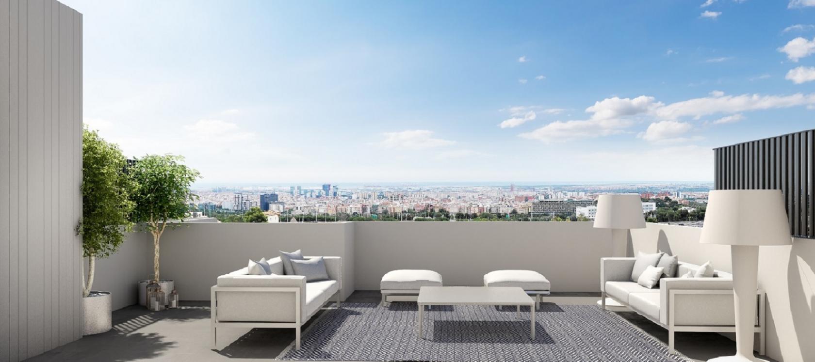 Obra nueva en Barcelona | Célere Finestrelles terraza